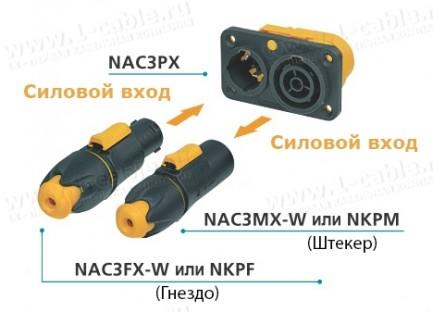 Фото4 NAC3FX-W - Кабельный разъем водонепроницаемый, серия powerCON TRUE1, гнездо