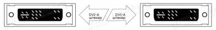 Фото2 DVIA-1MM-.. Аналоговый кабель DVI-A, DVI штекер > DVI штекер
