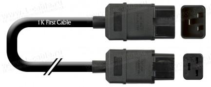 Фото1 1K-MP9-.. Кабель силовой в изоляции H07RN-F, эластичный, IEC 320 C20 штекер > C19 IEC320 гнездо