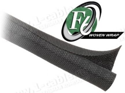 Фото1 F6W1..BK Самозакрывающаяся оборачиваемая эластичная тканевая кабельная оплетка
