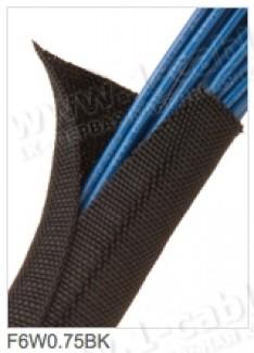 Фото5 F6W1..BK Самозакрывающаяся оборачиваемая эластичная тканевая кабельная оплетка