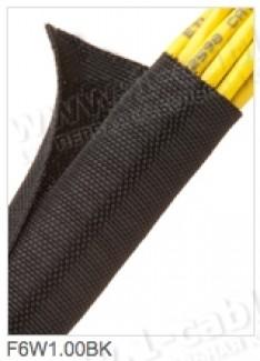 Фото6 F6W1..BK Самозакрывающаяся оборачиваемая эластичная тканевая кабельная оплетка