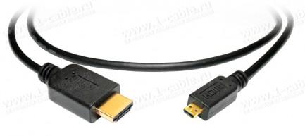 Фото1 HDMI-AmD-MM-0.. Переходной кабель HDMI, серия Standard, micro штекер (тип D) > штекер (тип A)