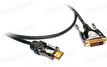 Фото1 HDMI-DVI-SL5-MM-0. Цифровой компактный кабель HDMI штекер > DVI штекер, серия SL5