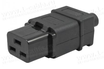 Фото1 ACP-320C19 - Гнездо кабельное приборное 220B, 3 контакта, IEC 60320 C19