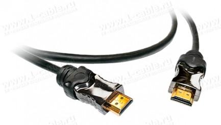 Фото1 HDMISL5-MM-0.. Эластичный кабель HDMI с Fast Ethernet, серия SL5, металлический корпус разъема, штек