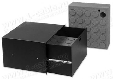 """Фото1 SL4-19-00. Ящик выдвижной для хранения микрофонов 19"""", глубина 390 мм"""