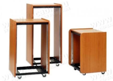 """Фото1 RWL-19-00. Рэк 19"""", деревянный, для легкого оборудования, адаптивная фиксация компонентов 19"""" без пр"""