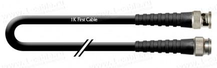 Фото1 1K-VX14-1.. Кабель коаксиальный переходной 75 Ом, на основе RG6/U, TNC штекер > BNC штекер