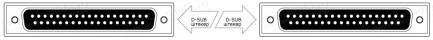 Фото2 1K-BIT11-37MM-1. Кабель для передачи данных, D-Sub 37-пин, штекер > штекер
