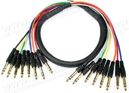 Фото1 SC08JJ0.. Аудиокабель 8-канальный балансный, 8x Jack 6.3мм стерео штекер > 8x Jack 6.3мм стерео штек
