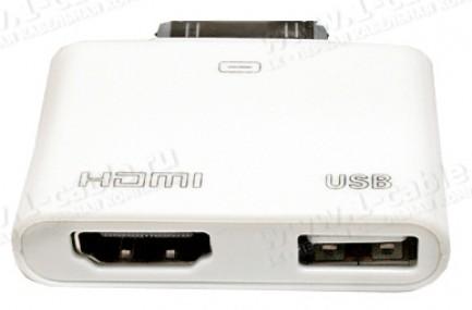 Фото1 MC302HD - MC302HD - Apple Digital Аудио-Видео адаптер с подзарядкой и синхронизацией для iPad, iPhon