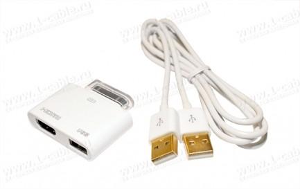 Фото3 MC302HD - MC302HD - Apple Digital Аудио-Видео адаптер с подзарядкой и синхронизацией для iPad, iPhon