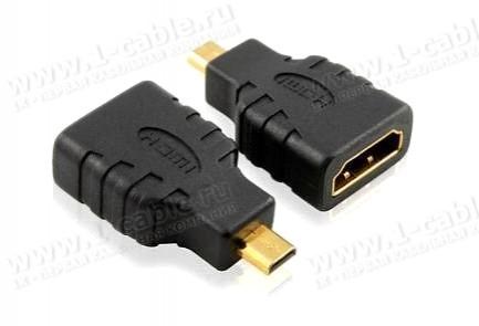 Фото1 HDMI2microHDMI-FM - Адаптер проходной HDMI гнездо > micro HDMI штекер (тип D)