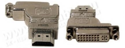 Фото1 HDMI2DVI-MFL - Адаптер проходной, HDMI штекер > DVI гнездо (левый)