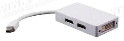 Фото1 MDP2DVI/HDMI/DPF - Адаптер видеосигналов Mini DisplayPort на DVI-D (гнездо)/HDMI (гнездо)/Mini Displ