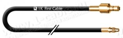 Фото1 1K-VX70-00.5 - Кабель коаксиальный переходной 50 Ом, стандартный MMCX штекер > SMB штекер
