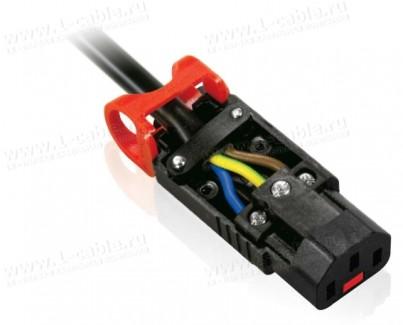 Фото2 PA130100BK - Гнездо с фиксацией соединения, кабельное 220B, 3 контакта, C13 Lock IEC320