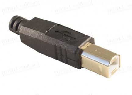 Фото1 AC-USB2B-MS-4.2 Разъем USB 2.0 кабельный, штекер, в корпусе, тип B
