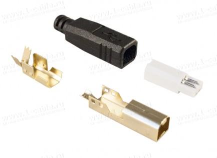 Фото2 AC-USB2B-MS-4.2 Разъем USB 2.0 кабельный, штекер, в корпусе, тип B