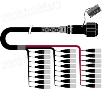 Фото1 1K-PW24/0TX-.. 24-кан.(24-IN) студийный балансный аудиомультикорный кабель, Tourline 85-пин гнездо >
