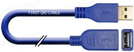 Фото1 1K-USB303-AAF-0. Кабель-удлинитель USB 3.0 для передачи данных, штекер (тип A) - гнездо (тип A)