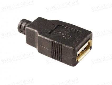 Фото1 AC-USB2A-FS-4.2 Разъем USB 2.0 кабельный, гнездо, в корпусе, тип А