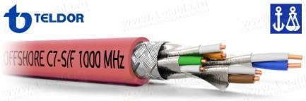 """Фото1 C7A-S/F-23/1XLH Кабель """"Витая пара"""", HI-GIGA Offshore Cables, 7a кат., S/FTP, 4 пары (c общим экрано"""
