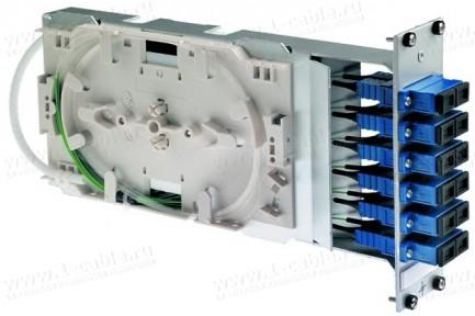 Фото1 H02053.016. Распределительный модуль с панельными разъемами, сплайс- кассетой Telekom, серия 3 HU/7