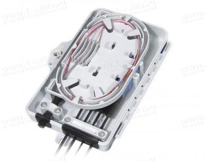 Фото2 FO-WBI-.A-GY Распределительный бокс оптический настенный, сплайс-кассета, пластиковый корпус, IP65