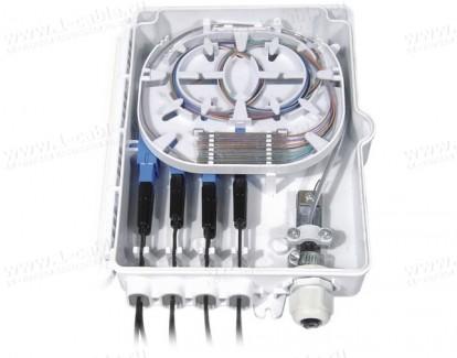Фото5 FO-WBI-.A-GY Распределительный бокс оптический настенный, сплайс-кассета, пластиковый корпус, IP65