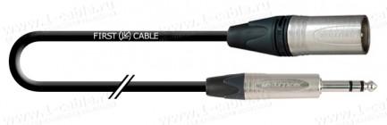 Фото1 1K-AMCN25-.. Кабель микрофонный, Compact, XLR3 штекер > Jack 6.3 stereo штекер (Neutrik)