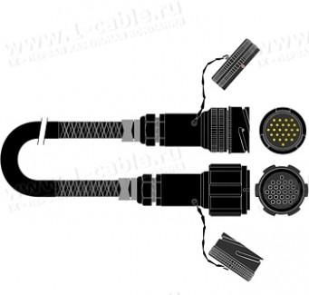 Фото1 1K-OLP08TT-.. 8-кан. туровый балансный цифровой мультикорный кабель, AES/EBU 110 Oм, Tourline 25-пин