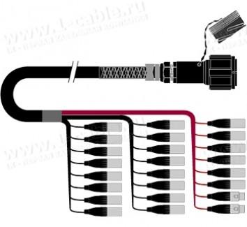 Фото1 1K-PW22/2TX-.. 24-кан.(22-IN/2-OUT) студийный балансный аудиомультикорный кабель, Tourline 85-пин гн
