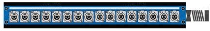 Фото1 1K-PB16/0-X.. 16-кан.(16-IN)  коммутационная коробка в сборе Panel Box (16x XLR3 гнездо)