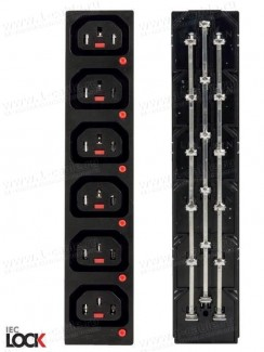 Фото3 ACP-135015BK. Блок панельных гнезд c фиксацией соединения, серия IEC Lock, 3 контакта, С13 IEC320