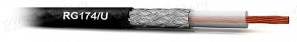 Фото1 RG174/U.. Кабель высокочастотный RG-174 (50 Ом) 2.65мм