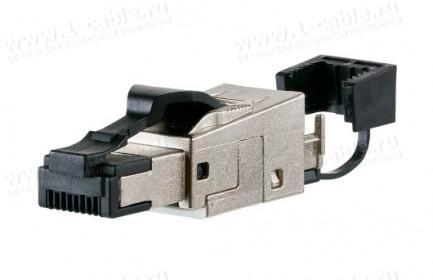 Фото1 130E405032-. Разъем RJ45 C6A кабельный, для полевого монтажа, повышенной прочности, серии Field Plug