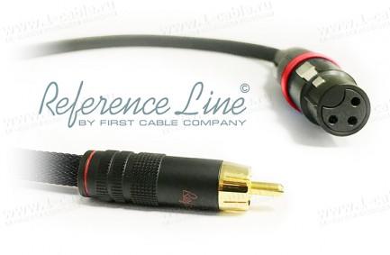 Фото1 1K-AR15-... Межблочный переходной аудио кабель, REFERENCE Line, RCA штекер > XLR гнездо