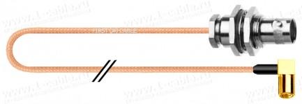 Фото1 1K-VXS71-0.. Кабель коаксиальный переходной 50 Ом, компактный на основе RG-178, BNC кабельное/панель