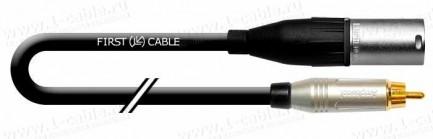 Фото1 1K-AD48-.. Кабель переходной аудио цифровой AES/EBU компактный, 110 Ом,  XLR гнездо > RCA штекер