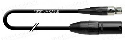 Фото1 1K-AMG79-.. Кабель микрофонный, Grade, mini XLR5 гнездо > XLR3 штекер (Amphenol)