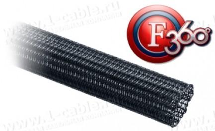 Фото1 F360..BK Полужесткий плетеный кабельный канал, цвет - чёрный
