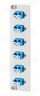 Фото1 15024A7406-E Панель с предустановленными оптическими разъемами, стандарта 3RU/7HP, серии OpDAT REGpr