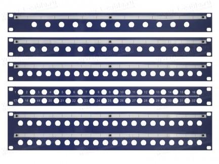 """Фото2 .U-BNC.. 19"""" рэковая панель с пробивкой под BNC разъемы, серия PRO"""