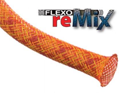 Фото1 PTM0.38.. Круглая Кабельная Оплетка PET ReMix- 0.95 см, диапазон растяжки 6.35-11.11 мм