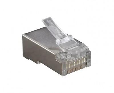 Фото1 RJ45-MP8(8C)-FS-C5 - Разъем RJ45 кабельный под витую пару 5 кат., экранированный, универсальный