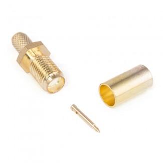 Фото1 J01151R00.1 Разъём R-SMA (корпус-гнездо, ц.контакт- штекер) кабельный, обжим, 50 Ом