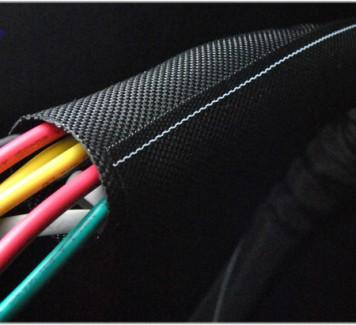 Фото2 SCS-0.. Cамозакрывающаяся тканевая кабельная оплётка плотного плетения