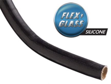 Фото1 SGA... Электроизоляционная термозащитная кабельная оплетка (стекловолокно покрытое силиконовой смоло